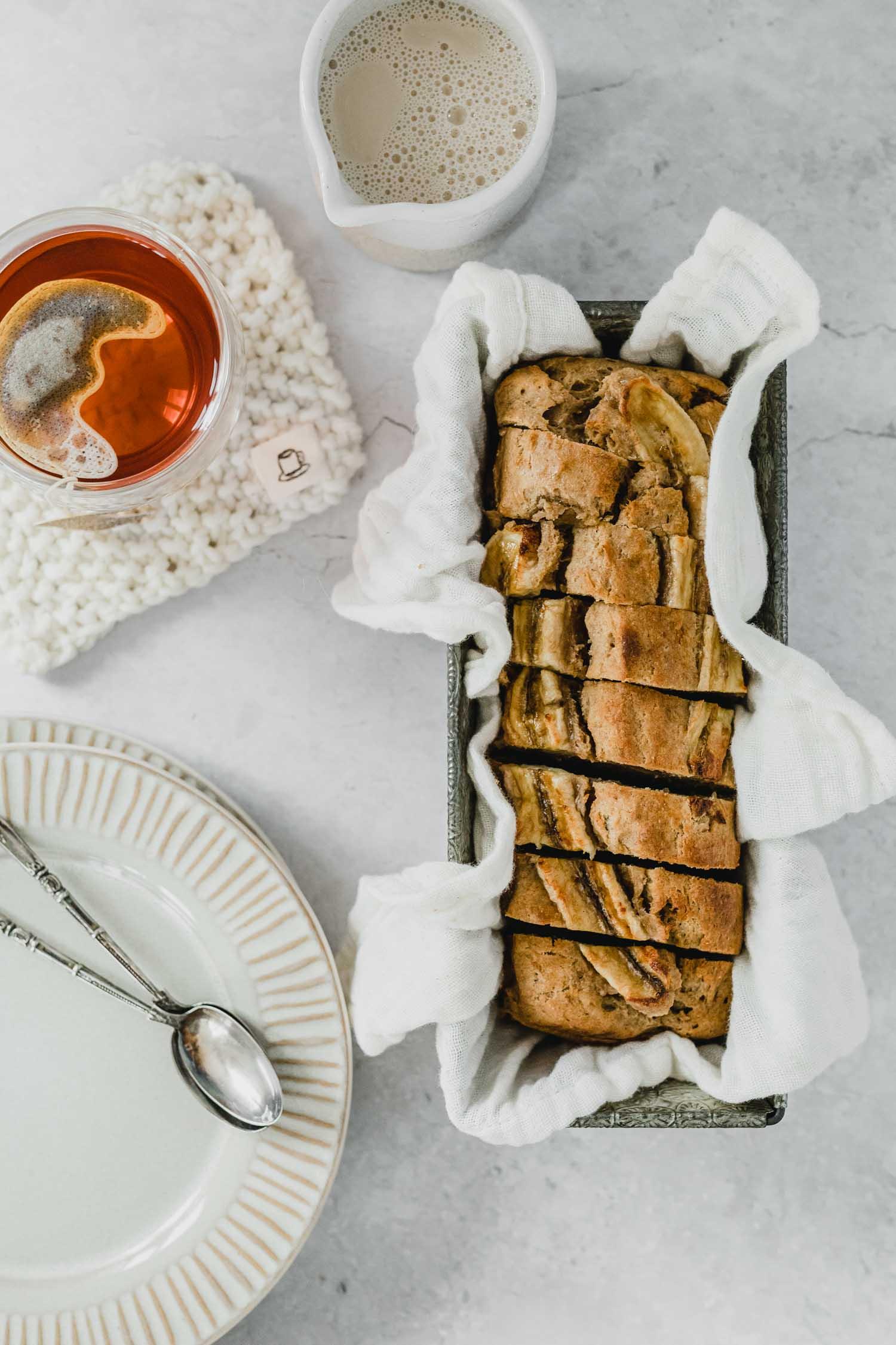 Recette banana bread vegan et thé Tea Heritage