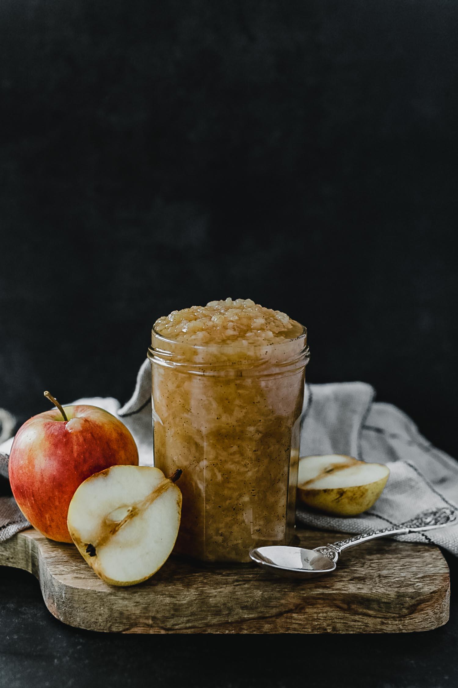 Recettes compotes automnales : compote pomme poire vanille
