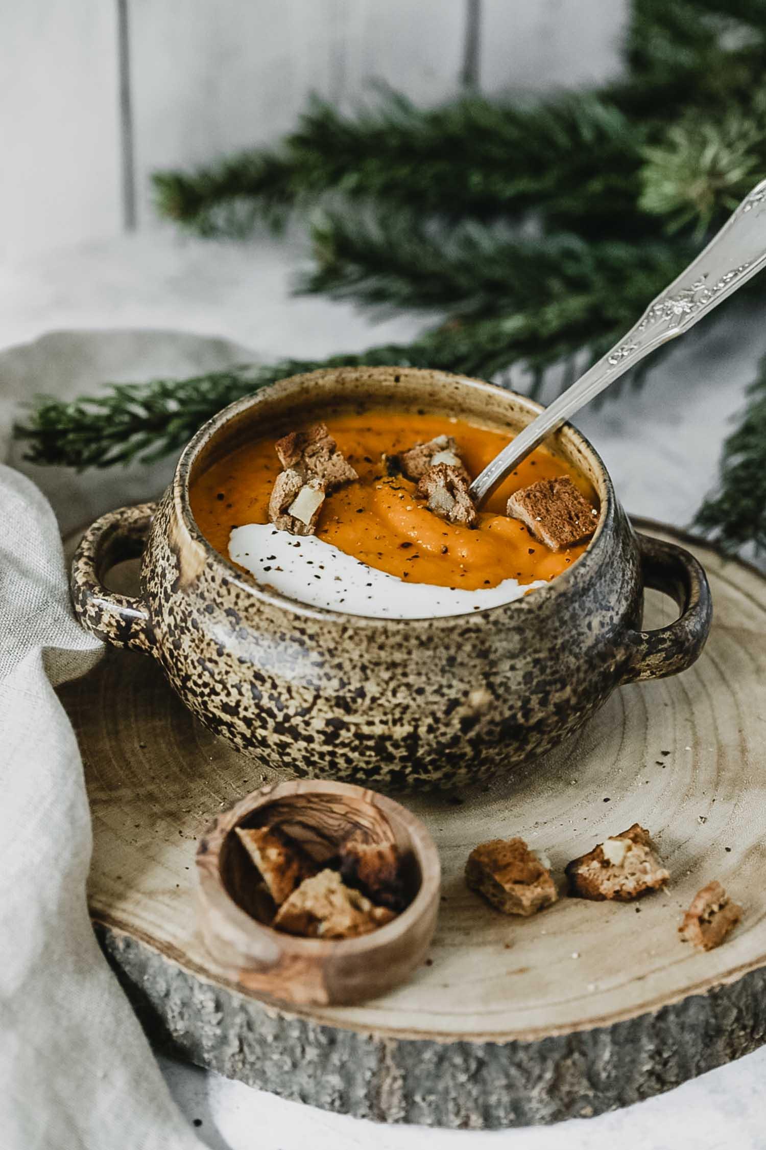 Recette vegan velouté carotte coco et gingembre