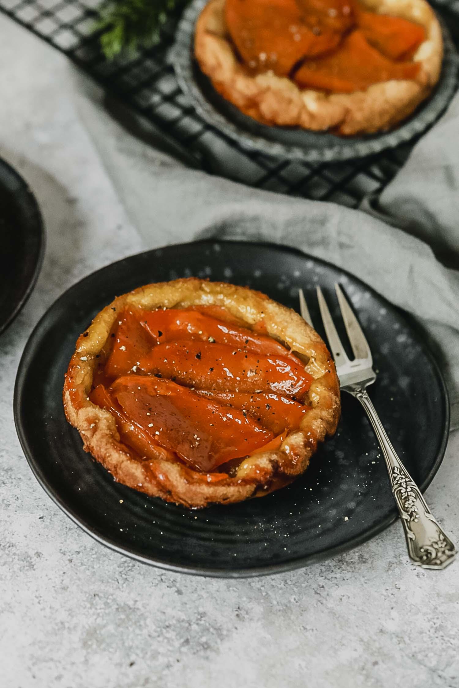 Recette vegan tarte tatin butternut au sirop d'érable