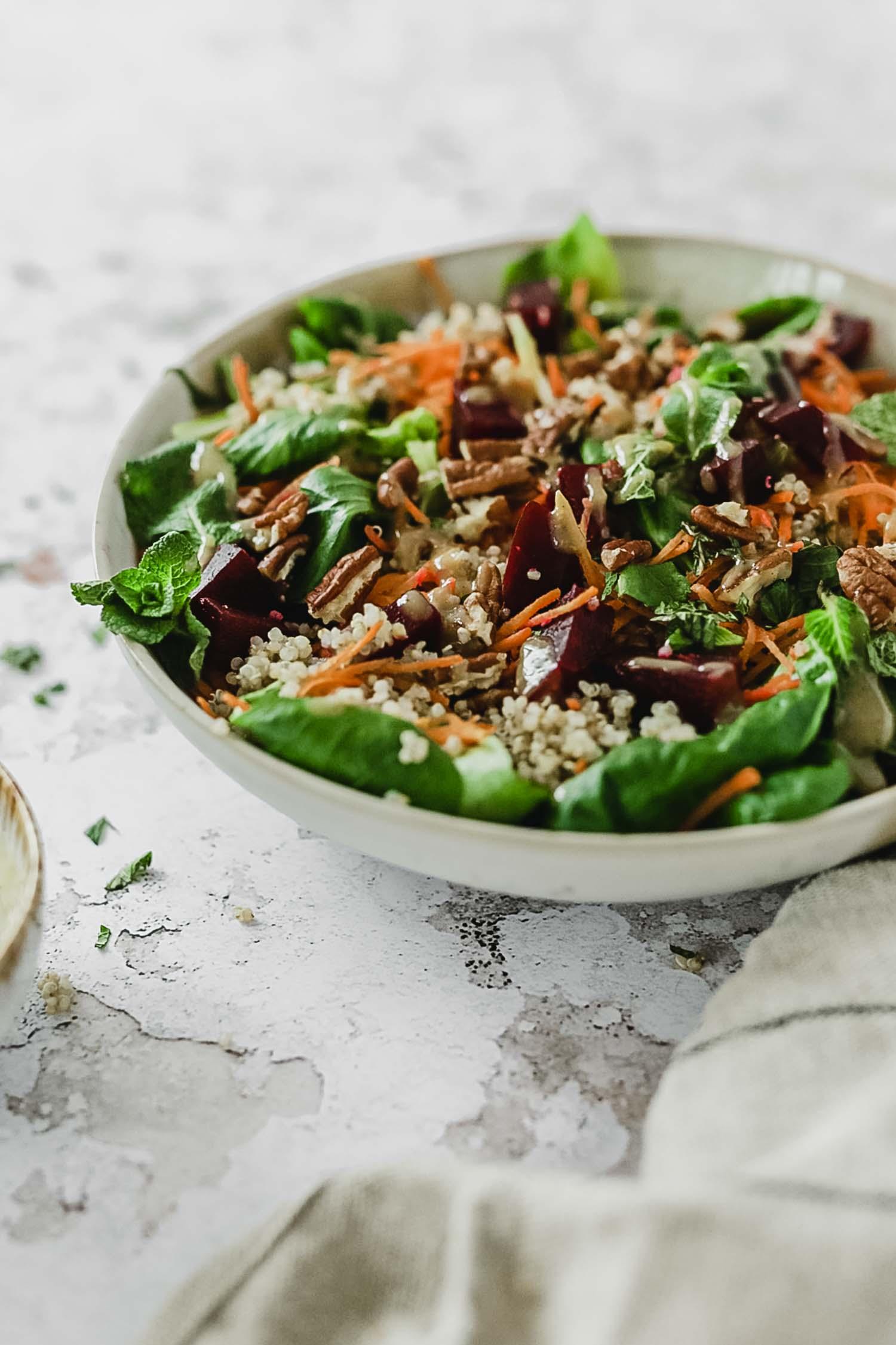 Recette vegan salade anti inflammatoire detox
